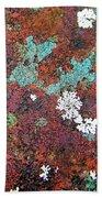 Flower Garden In The Rust Beach Towel