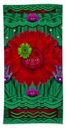 Flower Girl With Sunrose In Her Hair And Pandabears Beach Towel