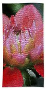 Flower In Stain Glass Beach Towel