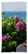 Flower Island View Beach Towel