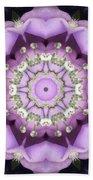 Flower Kaleidoscope 004 Beach Towel