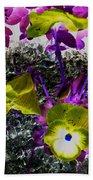 Flower Like Purple And Yellow Beach Towel
