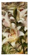 Flower - Lily - White Lily Beach Towel