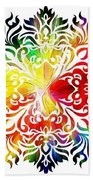 Flower Mandala 3 Beach Towel