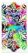 Flower Mandala 4 Beach Sheet