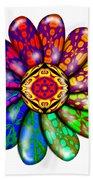 Flower Mandala 6 Beach Towel