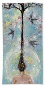 Flower Mind Beach Towel