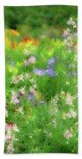 Flower Mosaic Beach Towel