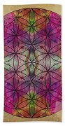 Flower Of Life Beach Towel by Filippo B