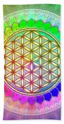 Flower Of Live - Rainbow Lotus 2 Beach Towel