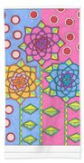 Flower Power 2 Beach Sheet