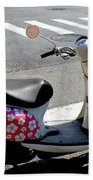 Flower Power For A Montreal Motor Scooter Beach Towel