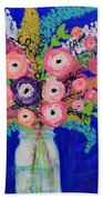 Flower Power Beach Towel