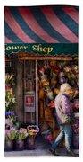 Flower Shop - Ny - Chelsea - Hudson Flower Shop  Beach Towel