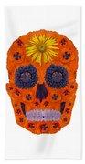 Flower Skull 1 Beach Sheet