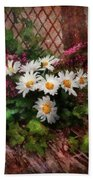 Flower - Still - Seat Reserved Beach Towel by Mike Savad