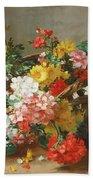 Flower Study Beach Towel