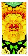 Flower Teddy Beach Towel