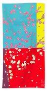 Flower Tree Beach Towel