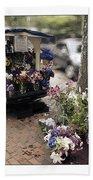 Flower Truck On Nantucket Beach Towel