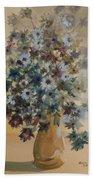 Flower Vase Original Watercolor Beach Towel