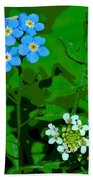 Flower Vision Beach Towel