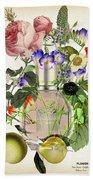 Flowerbomb Notes 3 - By Diana Van  Beach Towel