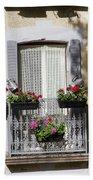 Flowered Window Beach Towel