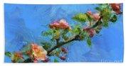 Flowering Apple Branch Beach Towel