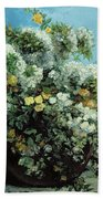 Flowering Branches And Flowers Beach Sheet