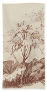 Flowering Plant With Buds Beach Towel