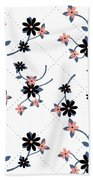 Flowers All Around Beach Towel