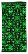 Flowers And Bees Abstract Beach Towel