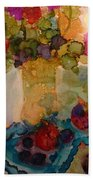 Flowers And Figs Beach Towel