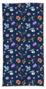 Flowers And Hummingbirds 2 Beach Towel