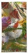 Flowers And Leaves IIi Beach Towel