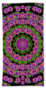 Flowers And More Floral Dancing A Power Peace Dance Beach Towel