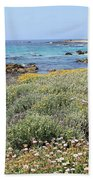 Flowers And Surf Beach Towel