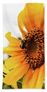 Flowers And The Bees Beach Towel
