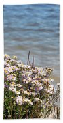 Flowers At The Lake Beach Towel