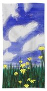 Flowers Bright Field Beach Towel