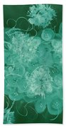 Flowers, Buttons And Ribbons -shades Of Green Beach Towel
