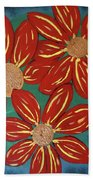 Flowers For M Beach Towel