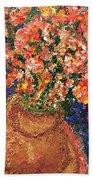 Flowers For Mary Beach Towel