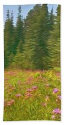Flowers In A Mountain Glade Beach Towel