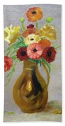 Flowers In A Pitcher -11 Yrs Old Beach Towel