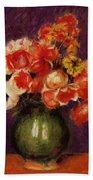 Flowers In A Vase 1901 Beach Towel