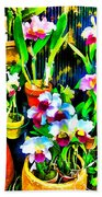 Flowers In Abstract 18 Beach Towel
