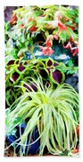 Flowers In Garden 3 Beach Towel