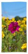 Flowers In The Field Beach Sheet